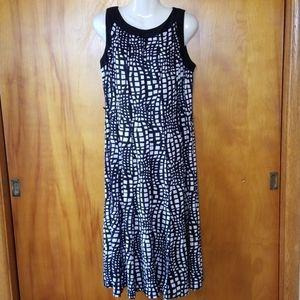 Black & White Sleeveless Dress, XL, Perceptions NY
